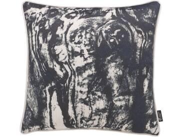 Emotion Textiles Kissenbezug »Holz«, schwarz