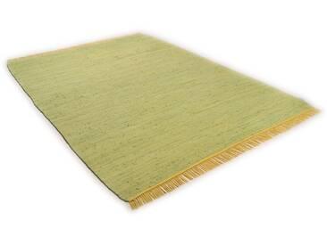 Tom Tailor Teppich »Cotton Colors«, 140x200 cm, beidseitig verwendbar, 8 mm Gesamthöhe, grün
