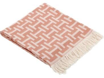 Biederlack Decke »Liverpool«, 130x170 cm, rosa, aus 100% Baumwolle