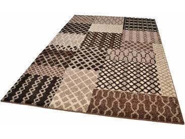 Tom Tailor Teppich »PATTERN PATCH«, 200x285 cm, 12 mm Gesamthöhe, braun