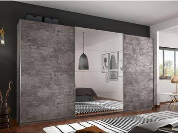 Rauch Schwebetüren-Schrank »Cortona«, grau, Höhe 230 cm
