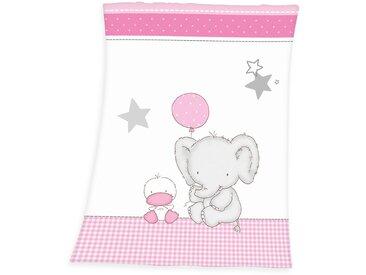 Baby Best Babydecke »Fynn Elefant«, 75x100 cm, weiß, pflegeleichtes Material