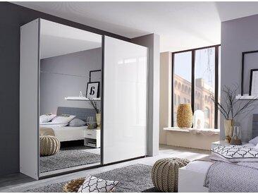 Rauch Schwebetürenschrank »Halle«, pflegeleichte Oberfläche, weiß, mit Spiegel