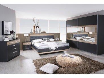 Rauch Schlafzimmer-Set »Tarragona«, grau, Schwebetürenschrank, Bett und 2 Nachttische