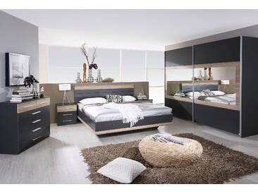 Rauch  PACK´S Schlafzimmer-Set  »Tarragona«, grau, Schwebetürenschrank, Bett und 2 Nachttische