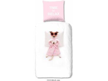 Good Morning Kinderbettwäsche »Relax«, 80x80 cm, aus 100% Baumwolle, pflegeleicht, trocknergeeignet, weiß