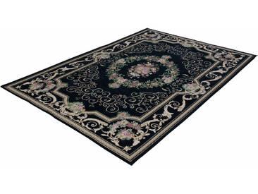 Theko® Teppich »Flomi Florentina«, 80x150 cm, 5 mm Gesamthöhe, schwarz