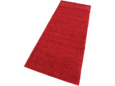 My Home Hochflorteppich »Bodrum«, 90x250 cm, 30 mm Gesamthöhe, rot