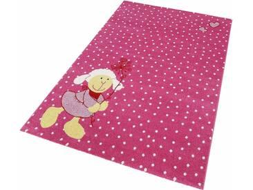 Sigikid Kinderteppich »Schnuggi«, 133x200 cm, 13 mm Gesamthöhe, rosa