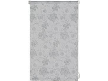Gardinia Seitenzugrollo »Stickerei«, H/B 210/90 cm, einfache Montage ohne Bohren, silber