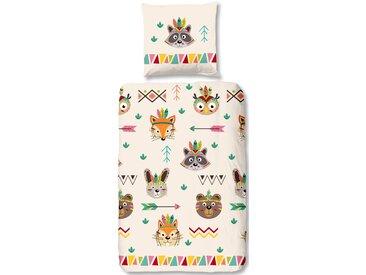 Good Morning Kinderbettwäsche »Native«, 80x80 cm, beige, aus 100% Baumwolle