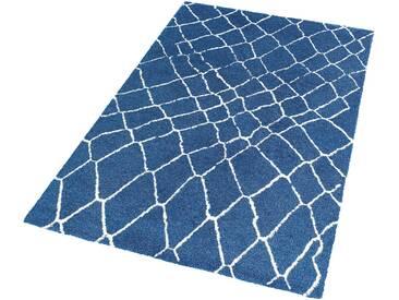 Schöner Wohnen-kollektion Teppich »Dream«, 80x150 cm, besonders pflegeleicht, 12 mm Gesamthöhe, blau