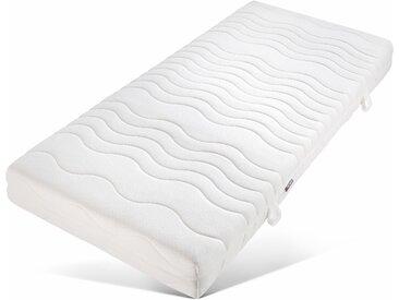 My Home Taschenfederkernmatratze »Der Klassiker«, 1x 100x200 cm, Bezug abnehmbar, Ca. 20 cm hoch, weiß, 81-100 kg