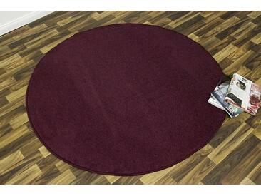 Hanse Home Teppich »Shashi«, 9 (Ø 133 cm), 8,5 mm Gesamthöhe, lila