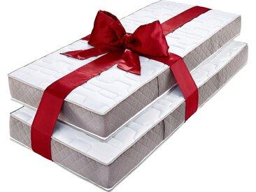 My Home Taschenfederkernmatratze »Provita Komfort T«, 2x 90x200 cm, weiß, 101-120 kg