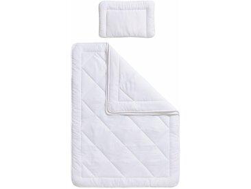 Ribeco Kinderbettdecke + Kopfkissen »Finn«, weiß, weiß