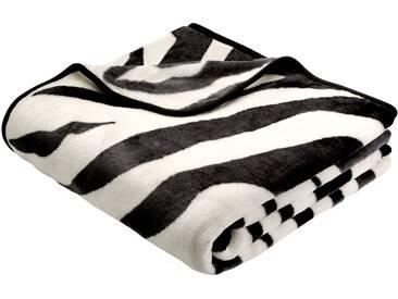 Biederlack Wohndecke »Zebra«, 150x200 cm, schwarz