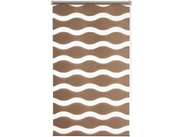 K-home Doppelrollo »MASSA«, H/B 150/110 cm, effektiver Sicht- und Sonnenschutz, braun