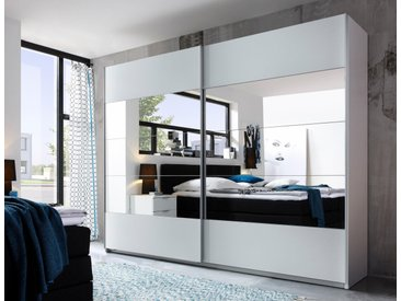 Schwebetüren-Schrank, Schlafwelt, T/H 60/210 cm, Breite 215 cm, 2-türig, weiß