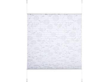 Liedeco Plissee »Ausbrenner«, H/B 130/90 cm, weiß