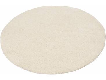 My Home Hochflor-Teppich »Bodrum«, 9 (Ø 140 cm), 30 mm Gesamthöhe, beige