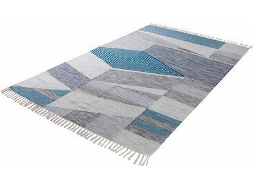 Tom Tailor Orientteppich  »Modern Kelim«, 140x200 cm, 5 mm Gesamthöhe, blau