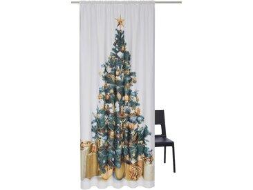My Home Vorhang  »Tannenbaum«, H/B 230/140 cm, weiß, blickdichter Stoff