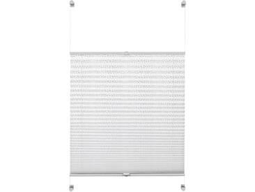 Gardinia Plissee »Ausbrenner Dots«, H/B 130/50 cm, einfache Montage ohne Bohren, weiß