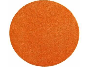 Hanse Home Teppich »Deko Soft«, 9 (Ø 75 cm), 7 mm Gesamthöhe, orange