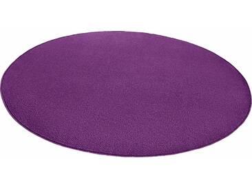 Hanse Home Teppich »Fancy«, 10 (Ø 200 cm), 7 mm Gesamthöhe, lila