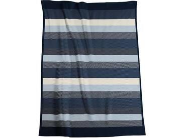 Biederlack Wohndecke »Winter Stripe«, 150x200 cm, schwarz