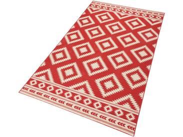 Hanse Home Teppich »Ethno«, 120x170 cm, 9 mm Gesamthöhe, rot