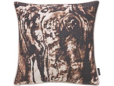 Emotion Textiles Kissenbezug »Holz«, braun