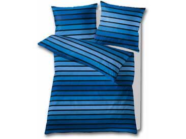 Kleine Wolke Bettwäsche »Neapel«, 135x200 cm, hautfreundlich, aus reiner Baumwolle, blau