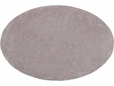 Hanse Home Teppich »Shashi«, 9 (Ø 133 cm), 8,5 mm Gesamthöhe, silber