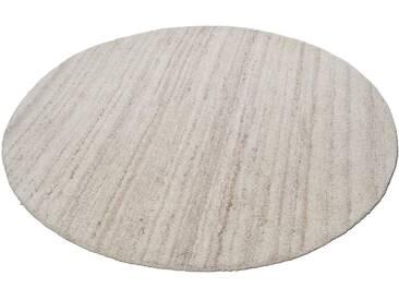 Theko® Teppich »Royal Berber Uni«, 9 (Ø 150 cm), 18 mm Gesamthöhe, beige