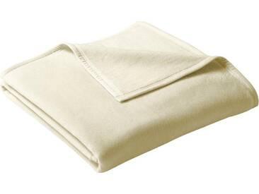 Biederlack Wohndecke »Uno Cotton«, 220x240 cm, beige