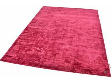Tom Tailor Teppich »Shine uni«, 190x290 cm, 8 mm Gesamthöhe, rot
