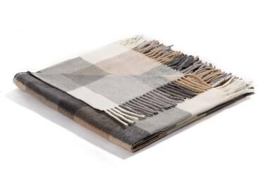 Biederlack Decke »Conny Karo«, 130x170 cm, beige