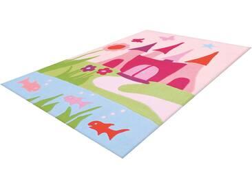 Arte Espina Kinderteppich »Joy 4052«, 110x160 cm, 16 mm Gesamthöhe, rosa