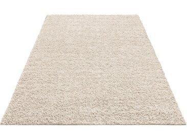 Home Affaire Hochflor-Teppich  »Shaggy 30«, 60x90 cm, 30 mm Gesamthöhe, beige