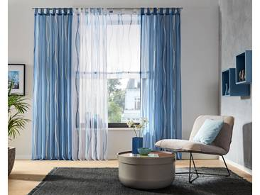 My Home Raffrollo »Dimona«, H/B 140/80 cm, blau, transparenter Stoff