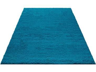 My Home Hochflor-Teppich »Bodrum«, 60x90 cm, 30 mm Gesamthöhe, blau