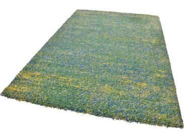 Theko® Hochflor-Teppich »Color Shaggy 521«, 133x190 cm, 35 mm Gesamthöhe, grün