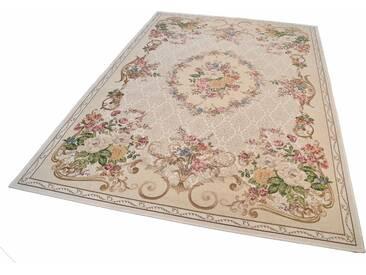 Theko® Teppich »Flomi Floral«, 70x120 cm, besonders pflegeleicht, 3 mm Gesamthöhe, beige