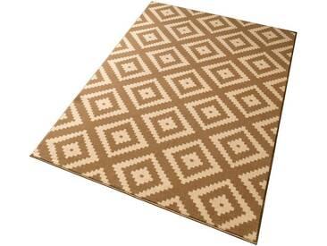 Hanse Home Teppich »Raute«, 160x230 cm, 9 mm Gesamthöhe, beige