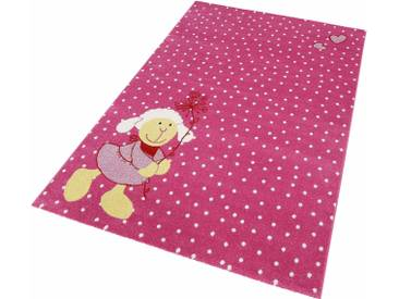 Sigikid Kinderteppich »Schnuggi«, 200x290 cm, 13 mm Gesamthöhe, rosa
