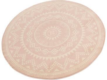 Hanse Home Teppich »Valencia«, 10 (Ø 200 cm), 9 mm Gesamthöhe, rosa