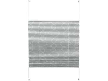 Gardinia Plissee »EASYFIX Plissee Dekor mit 2 Bedienschienen«, H/B 130/70 cm, einfache Montage ohne Bohren, grau