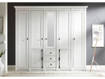 Home Affaire Kleiderschrank », Breite 147 cm«, mit 3 Schubkästen, weiß, mit Spiegel